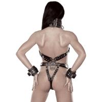ledapol 5578 body harnais en cuir femme