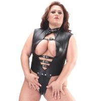 ledapol 5592 body en cuir - body femme