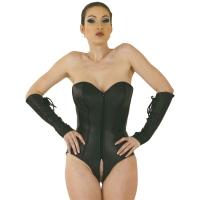 ledapol 5606 body en cuir - body femme