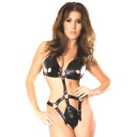 ledapol 5732 body harnais en cuir femme