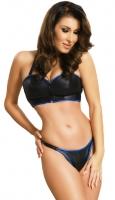 ledapol 5805 soutien gorge en cuir + slip - 2 pièces en ensemble - lingerie sexy