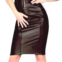 ledapol 5817 minijupe en cuir - minijupe femme