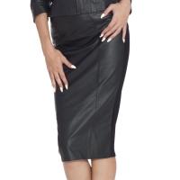 ledapol 5857 minijupe en cuir - minijupe femme