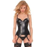 ledapol 6049 body en similicuir - bodysuit femme
